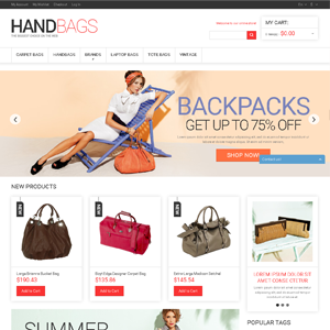 Hand Bag drop shipping ecommerce website online business for sale