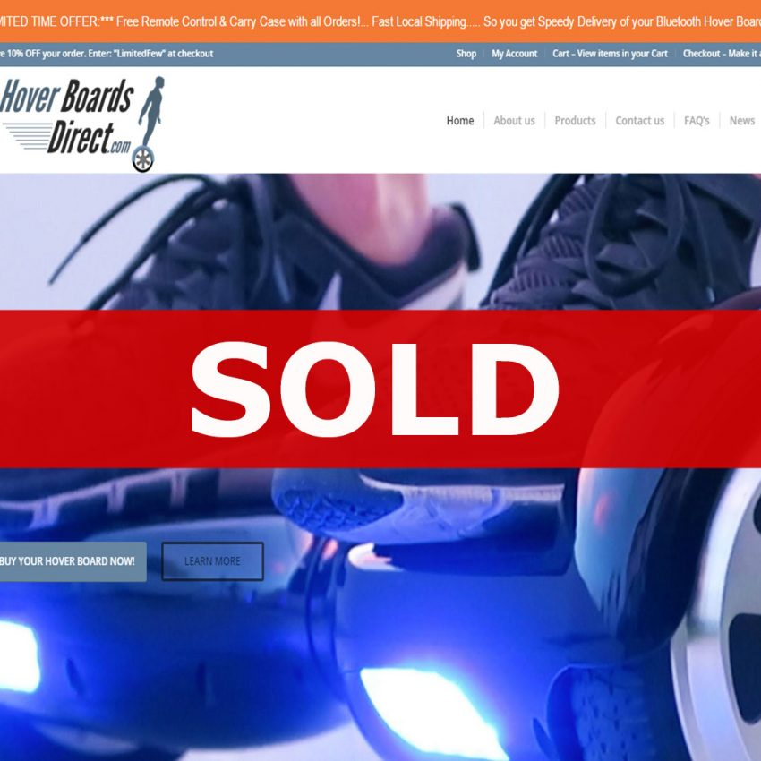 Hover boards direct drop shipping business sold