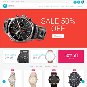 Watches drop shipping ecommerce website online business for sale