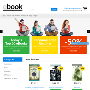 eBook drop shipping ecommerce website online business for sale