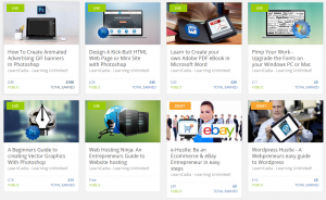 6 live Udemy courses with more to follow established website business