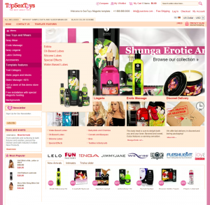 Adult toys online drop shipping ecommerce website business opportunity