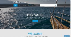 Fishing theme drop shipping website business template opportunity for sale