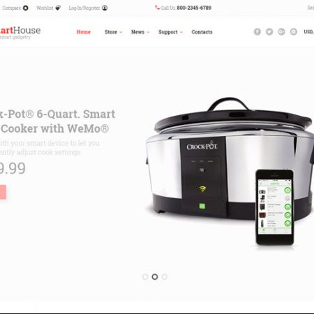 Smart internet connected home online website business for sale