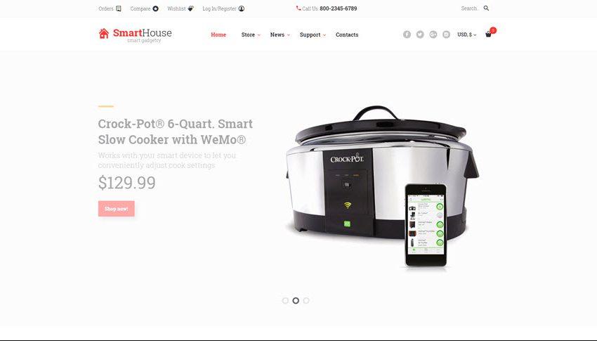 Smart internet connected home online website business for sale