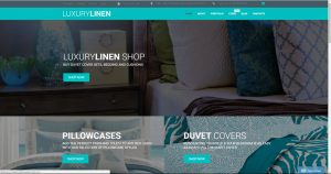 Sell buy a bed sheets bed linen drop shipping business template website