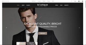 Boutique theme website template opportunity