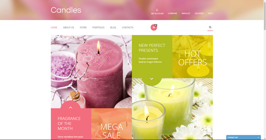 Scented candles drop shipping website business for sale