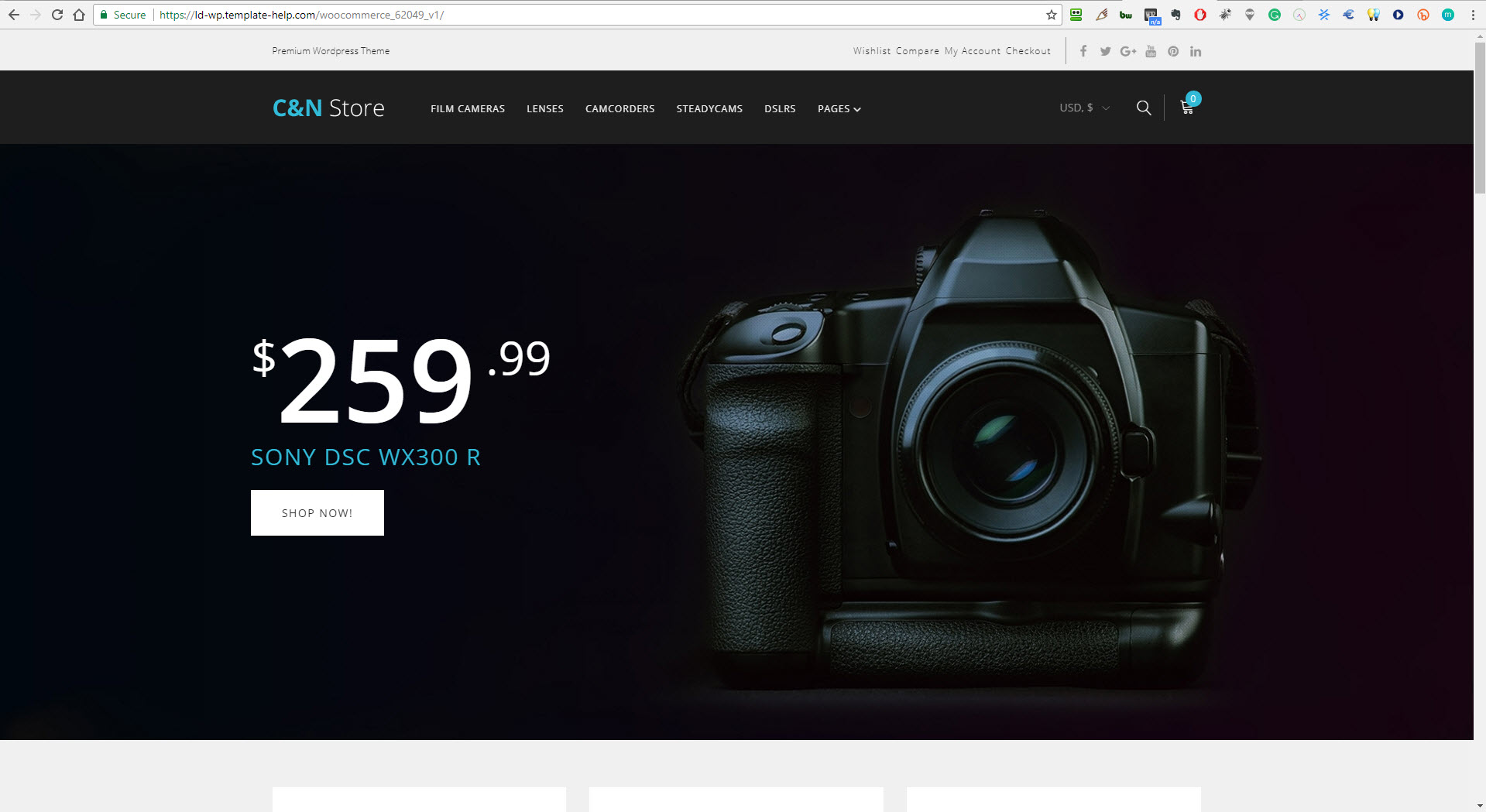 DSLR and camera drop shipping online website business for sale