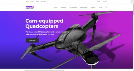 Drones drop shipping ecommerce website business for sale