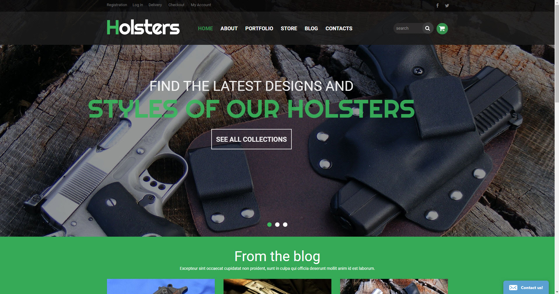 Gun holsters store drop shipping website business opportunity