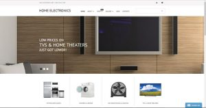 Buy a Home electronics website business opportunity for sale