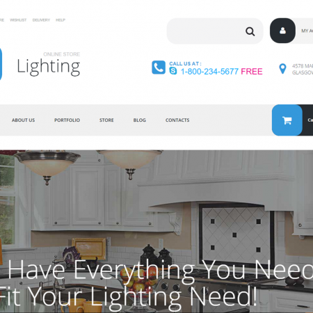 Lighting business drop shipping website business for sale