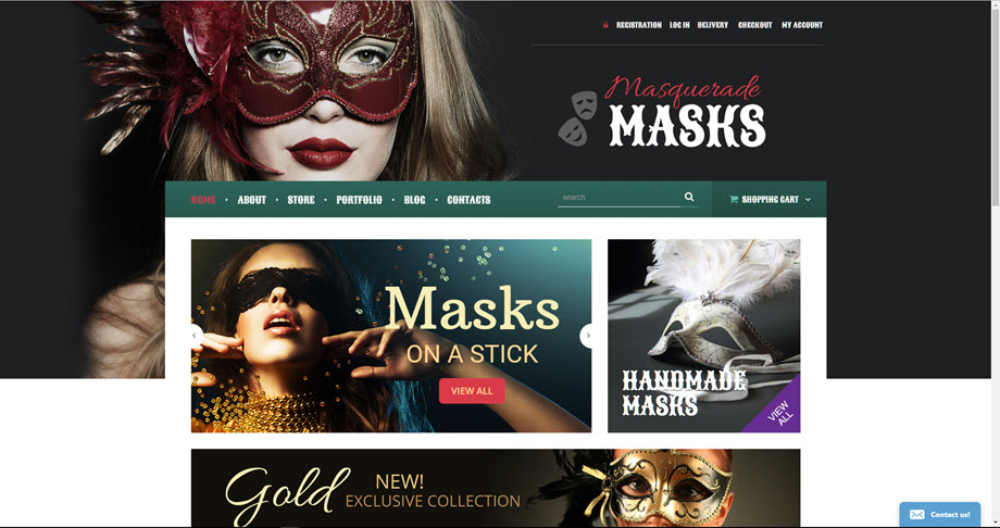 Masks and Masquerades business website opportunity for sale