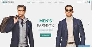 Mens fashion business website