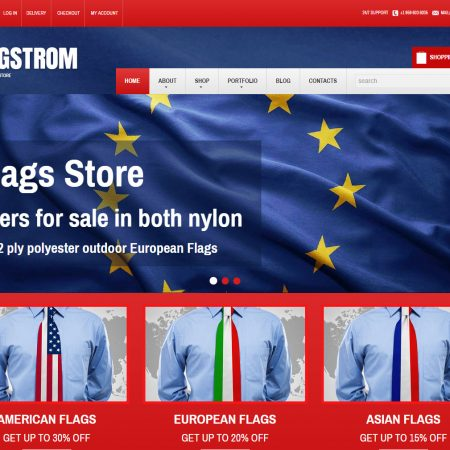 Politics store ecommerce drop ship website business theme