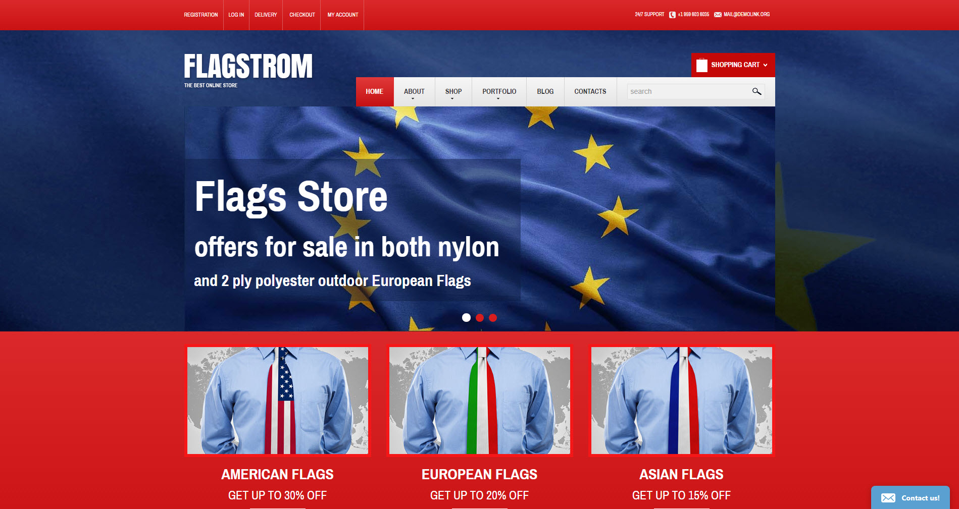 Politics store ecommerce drop ship website business theme