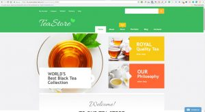 Premium Tea store internet website business opportunity for sale to buy now