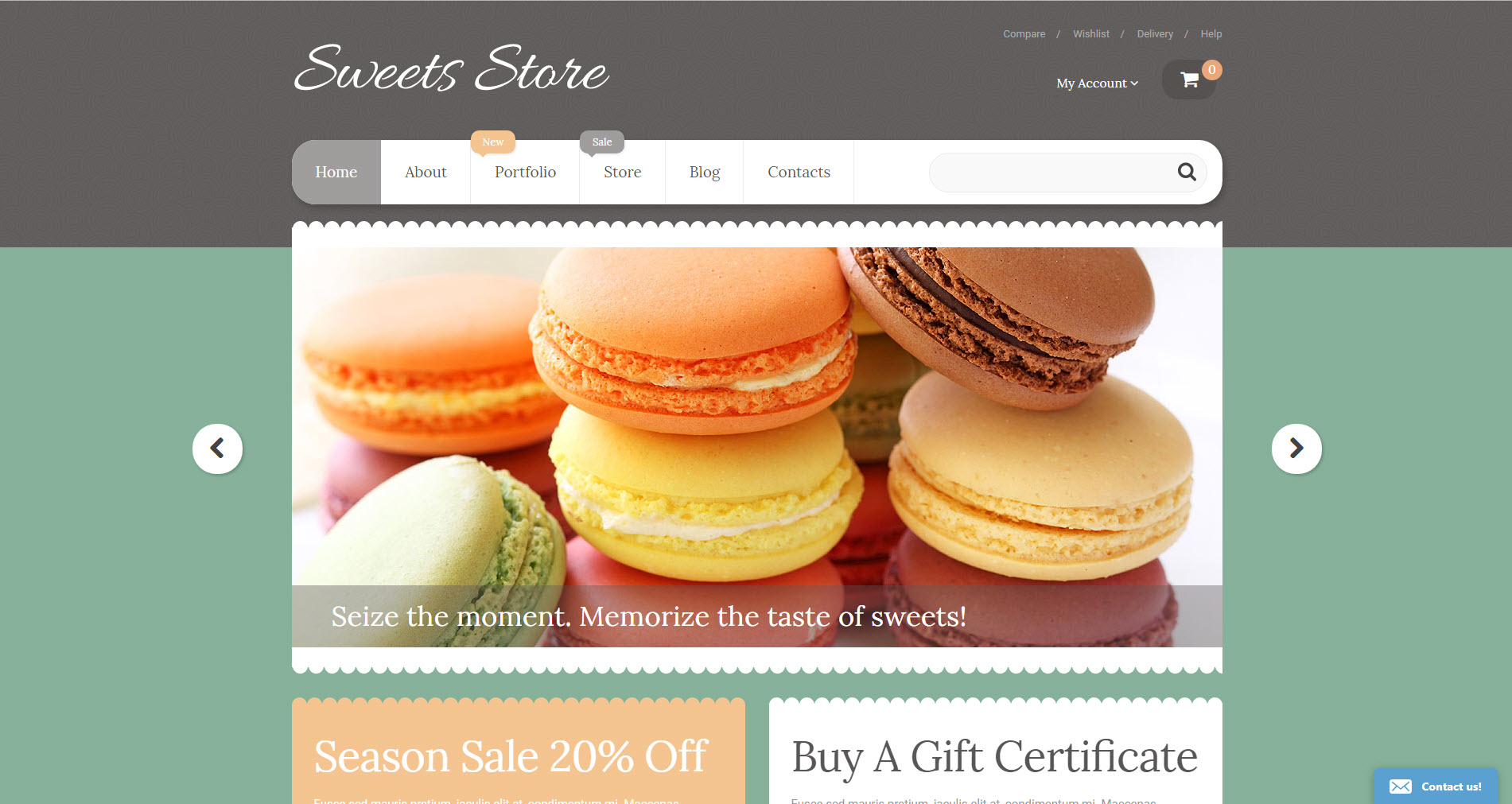 Confectionery and sweets online drop shipping website business for sale
