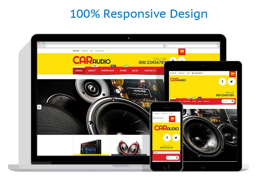 car vehicle audio website business template for sale