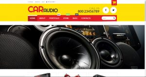 Car vehicle audio equipment drop shipping online internet website template business for sale