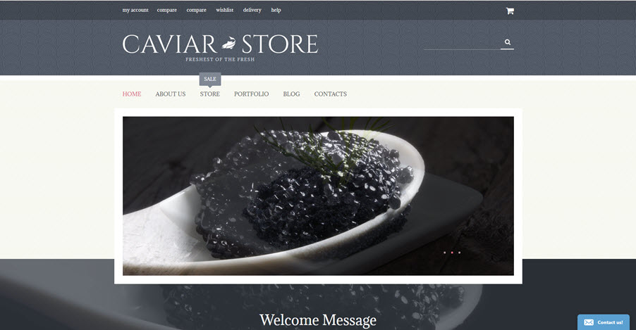 Caviar beluga drop shipping website business for sale