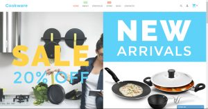 Cookware drop ship turn key business website for sale