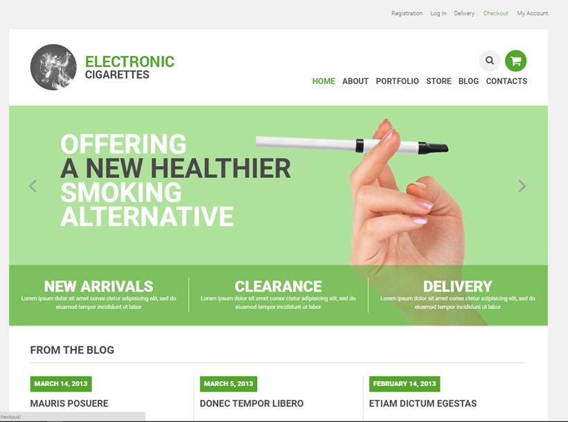 Vaping electronic cigarettes online website business for sale