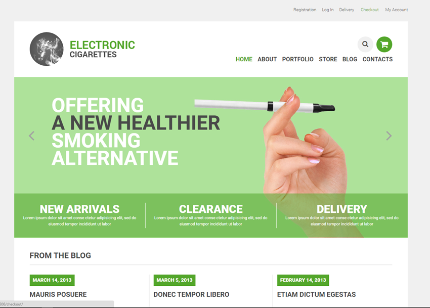 Vaping electronic cigarettes online website business for sale