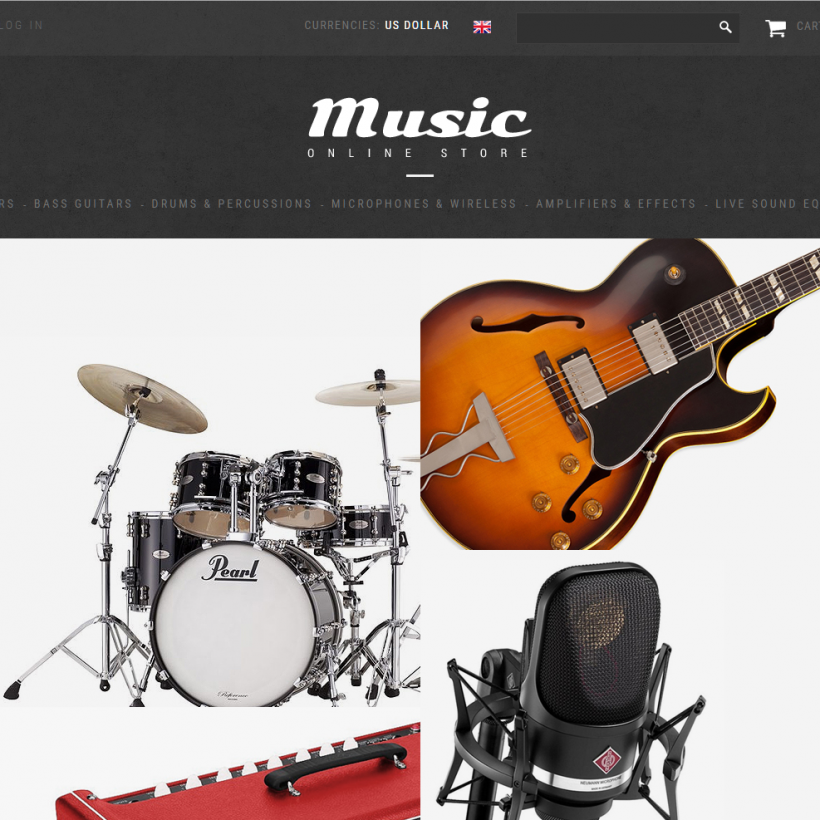 Music drop shipping business website opportunity for sale