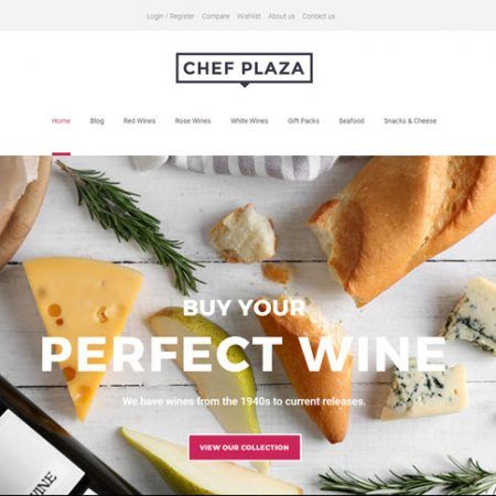 Wines and cheese website template theme