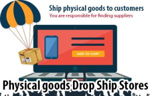 Physical goods online drop shipping website businesses for sale