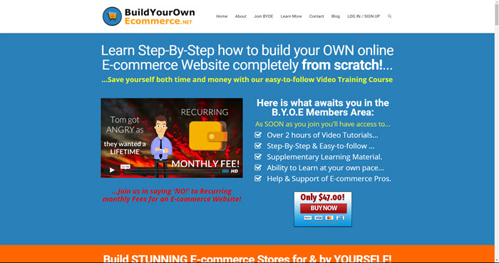 Build your own ecommerce website for sale