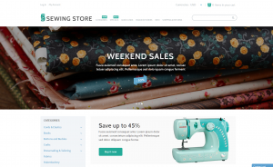 Sewing drop shipping website business for sale