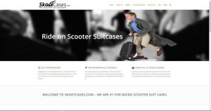 Skooter suitcases website business for sale
