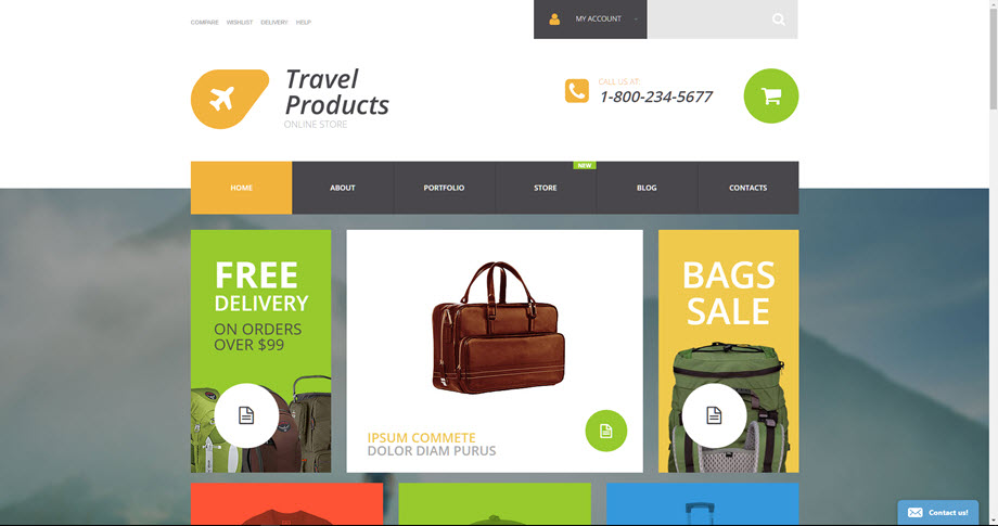 Travel products drop ship store
