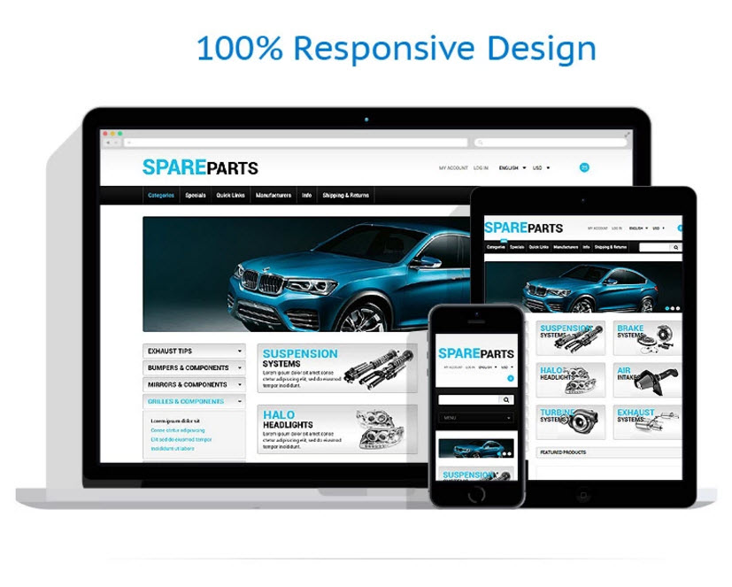 Car spare parts drop shipping business website company for sale