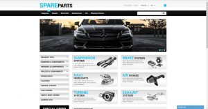 Car spare parts drop shipping website business for sale