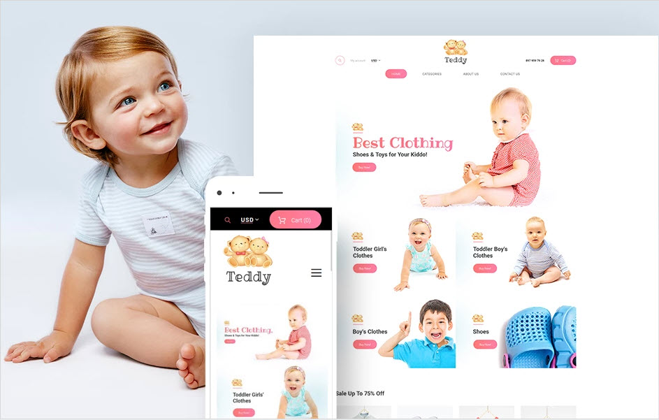 Kids infant toddler drop ship business for sale
