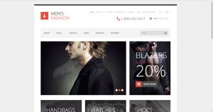 Mens fashion drop shipping website business for sale