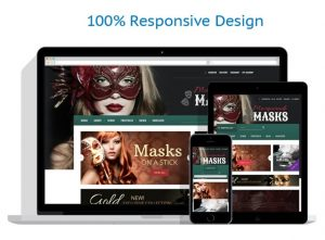 Masks and Masquerades business website for sale
