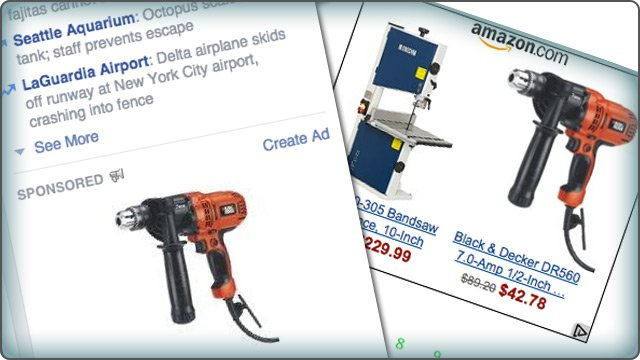 Retargetting amazon advertising for items for sale
