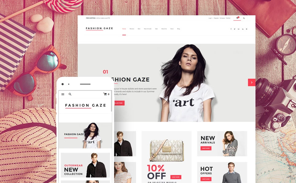 Fashion and apparel theme drop shipping website business to buy