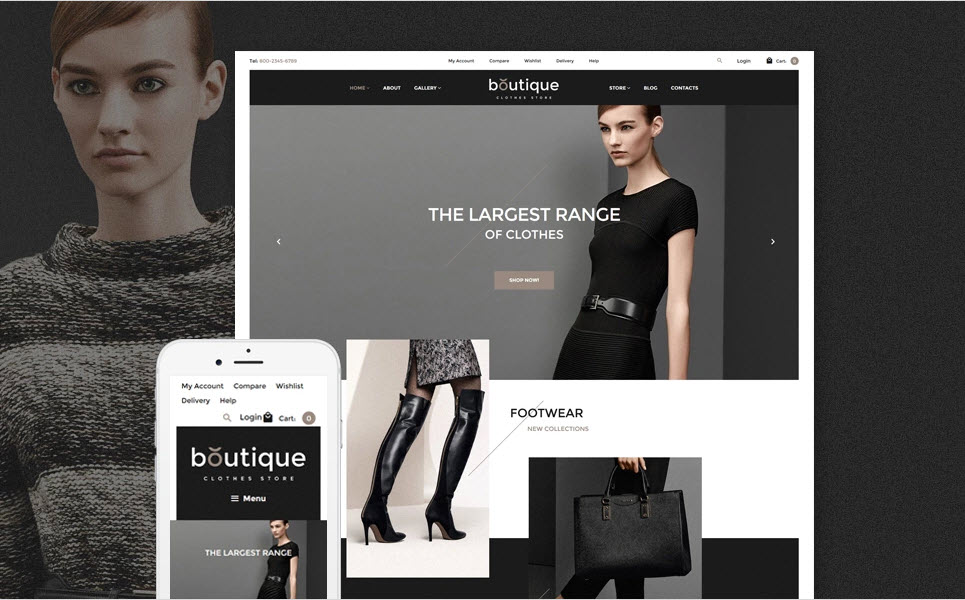 Boutique clothing drop ship website business template