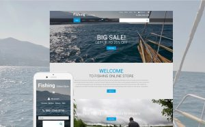 Fishing theme buy an online business website opportunity for sale