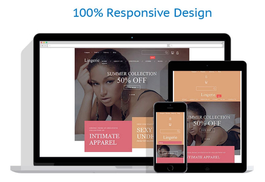 Buy Intimate apparel theme template website business opportunity for sale