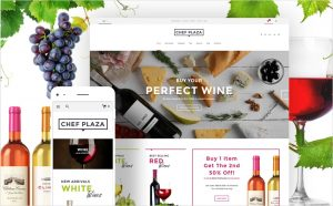 CHeese and wine turn-key website business template business