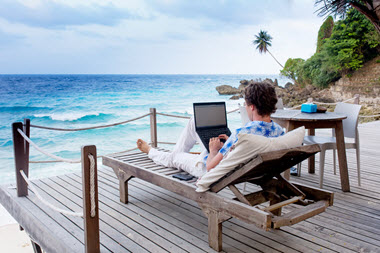 Work on an internet business from anywhere