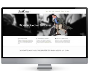 Skooter suit case ecommerce website design services