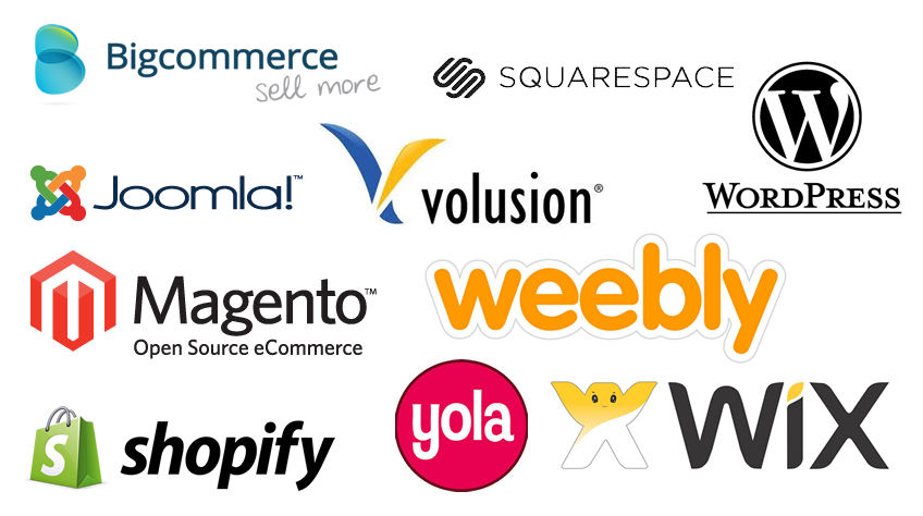 We are able to work with a wide range of ecommerce platforms to choose from